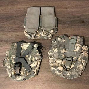 3 Camo Utility Tactical Military Bags Camping